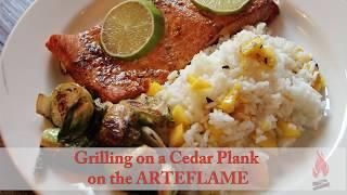 "Lindsay ""Mama"" O'Neill makes cedar plank grilled salmon on the ARTEFLAME"
