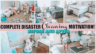 COMPLETE DISASTER CLEAN WITH ME 2019 | WHOLE HOUSE CLEANING MOTIVATION