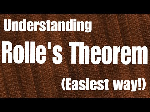 Rolle's theorem (The easiest way to understand it by mathOgenius)