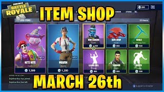 Clown Skins and Maven Return! | FORTNITE ITEM SHOP TODAY! (MARCH 26th, 2019)