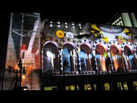 3D Duality Light Show on Atlantic City Convention Center building on Atlantic City Boardwalk, NJ