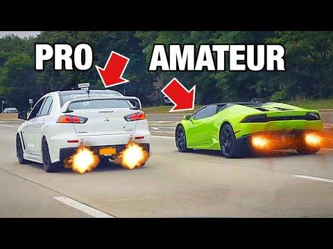 Mitsubishi Evo X vs Lamborghini Huracan LP610