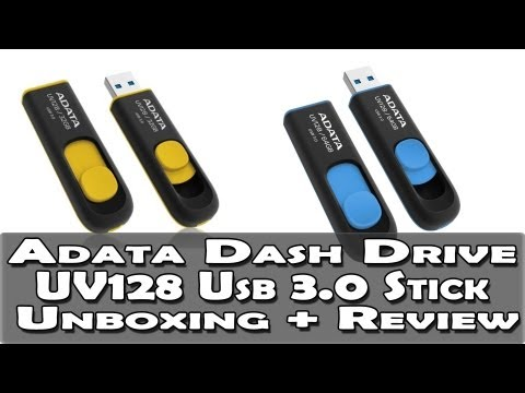 ADATA UV128 USB 3.0 Stick Unboxing + Review