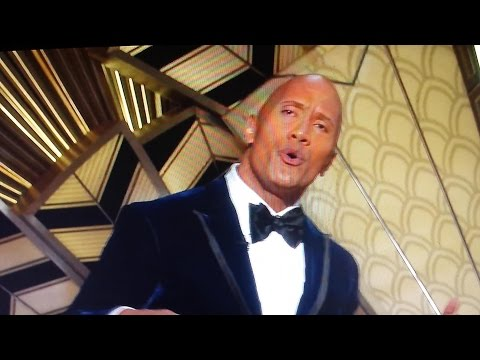 THE ROCK SINGS AT THE OSCARS 89th annual Academy awards! LoL