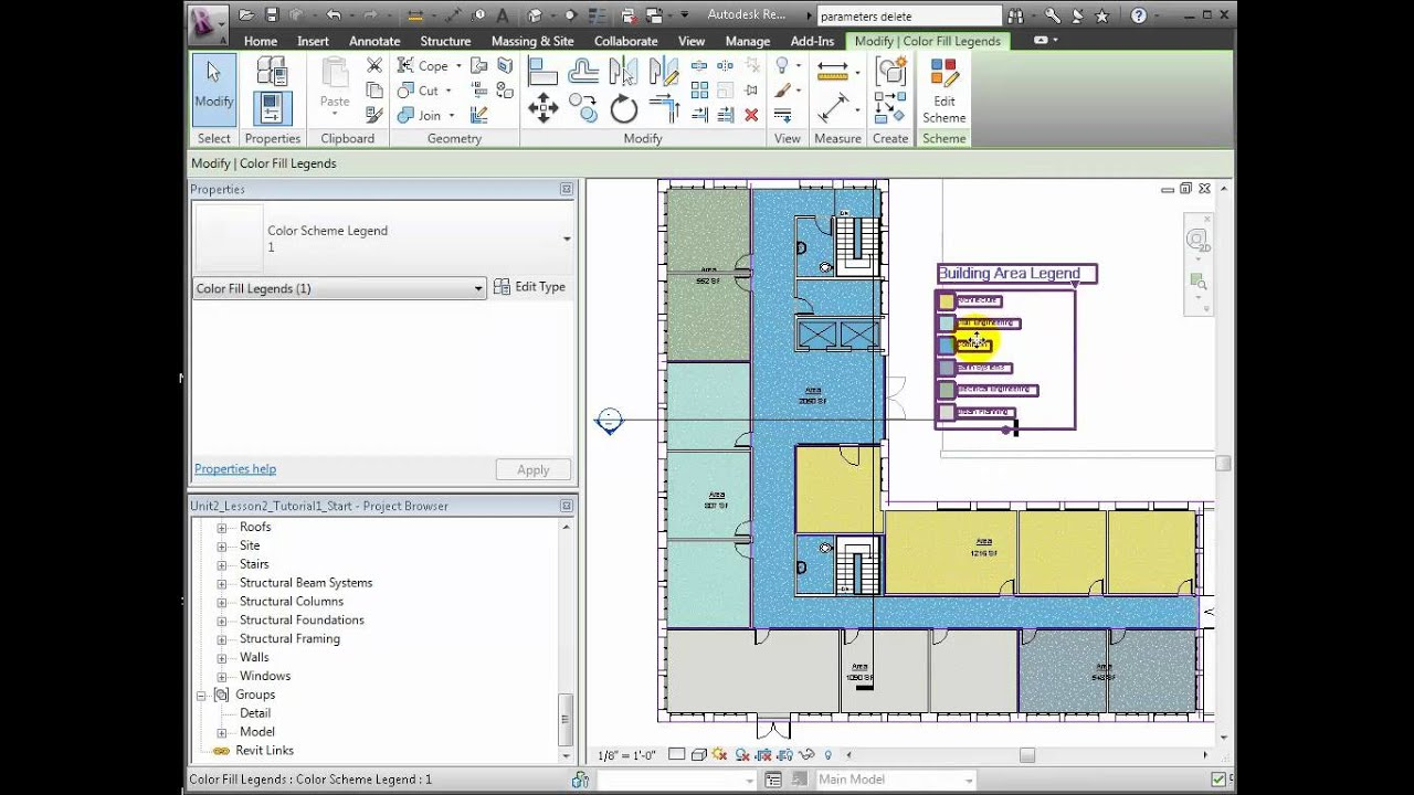 Revit architecture area and space planning youtube for Space planning architecture