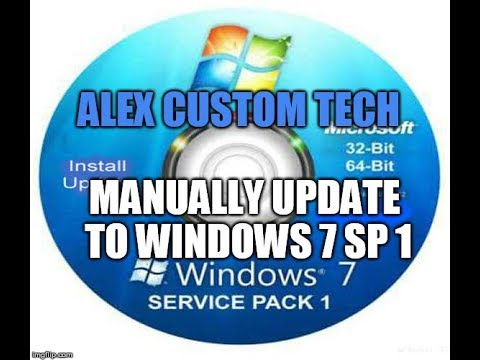 How to Manually Update to Windows 7 Service Pack 1 #actontech