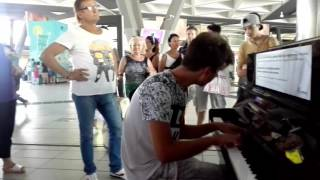 Alan Walker - Faded - Piano Cover - at Naples Central station