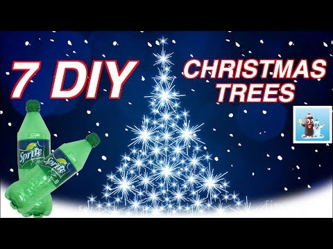 7 Ideas for DIY Christmas Tree from Plastic Bottles Art and Craft