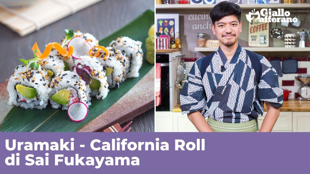 Ricetta Uramaki Giallo Zafferano.Sushi Fatto In Casa Uramaki California Roll Ricetta Originale Giapponese Di Sai Fukayama Youtube