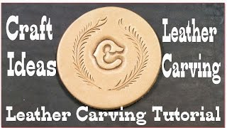 Carving Leather - Craft Ideas - Carve Wet and Cased Leather - Bruce Cheaney Leathercraft
