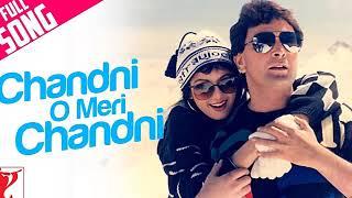 Chandni O Meri Chandni Lyrics (( Jhankar Song )) | Chandni | Rishi Kapoor, Sridevi | Jolly Mukherjee