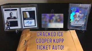 SICK PICKUP! Graded Cooper Kupp Cracked Ice Ticket Auto!