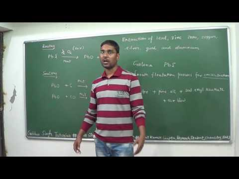 Metallurgy-Lecture 3-Extraction of lead, zinc, iron, copper, silver, gold and aluminium