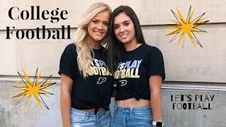 VLOG 7| FIRST COLLEGE FOOTBALL GAME!