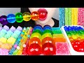 MOST POPULAR FOOD FOR ASMR *RAINBOW PARTY* POPPING BOBA, JEWELRY JELLY, GUMMY, COOKIES MUKBANG