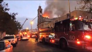 3-11 alarm fire at Shrine of Christ the King Church in Chicago