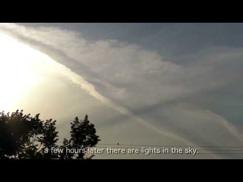 lights and sound in the sky before canada earthquake