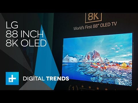 LG 88inch 8K OLED TV - Hands On at IFA 2018