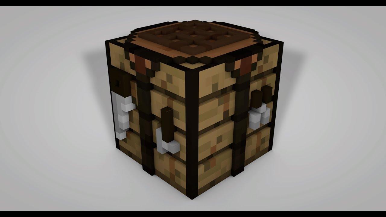 Minecraft 3d Workbench Speed Art Cinema 4d Youtube