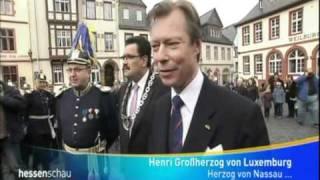 Großherzog Henri von Luxemburg, Herzog von Nassau, in Weilburg