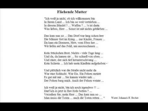 Fliehende Mutter Worte Johannes R Becher Christoph Holzhöfer