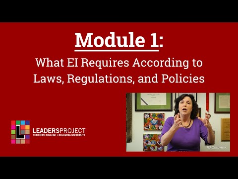 NYCDOH Module 1: What EI Requires According to Laws, Regulations, and Policies