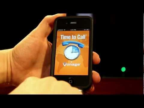 Vonage Time To Free International Ing Iphone App