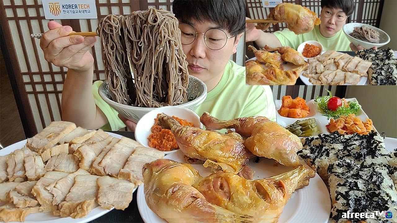 닭다리구이 보쌈수육.. 밥버거 냉모밀 학생식당 무한리필 5천원!!