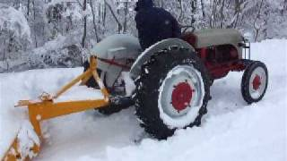 1946 Ford 2N Snow Plowing