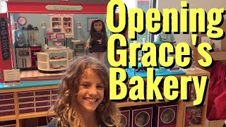 American Girl Doll Grace Thomas Bakery - Opening, Set Up And Review