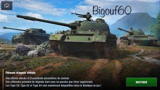 World of Tanks blitz Boutique WG (Type 64,Type 62, Type 59) Tiers 6,7,8
