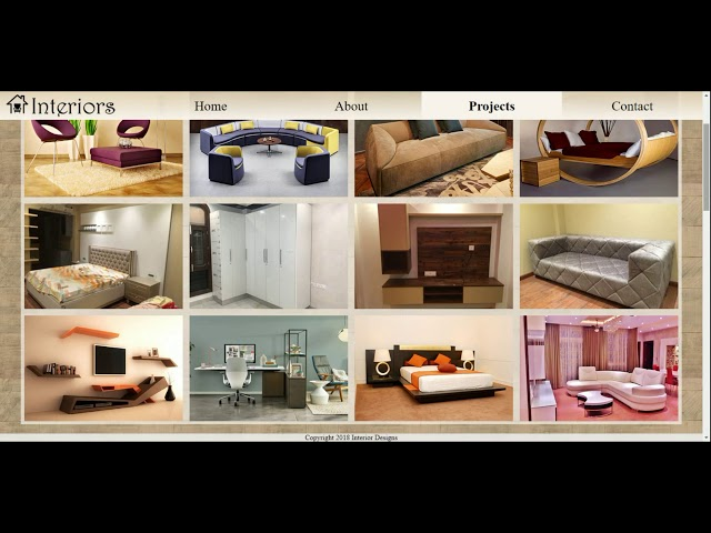 Interior Design Website Student Work - Kavyashree