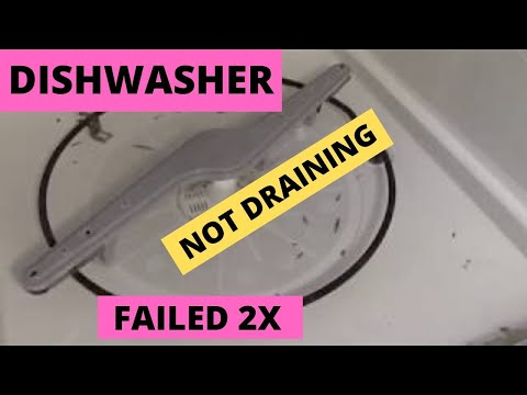 Frigidare Dishwasher Not Draining Failed  2x - DIY unclogged dishwasher