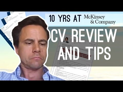 McKinsey Principal Reviews A CV Live | Consulting Resume Advice