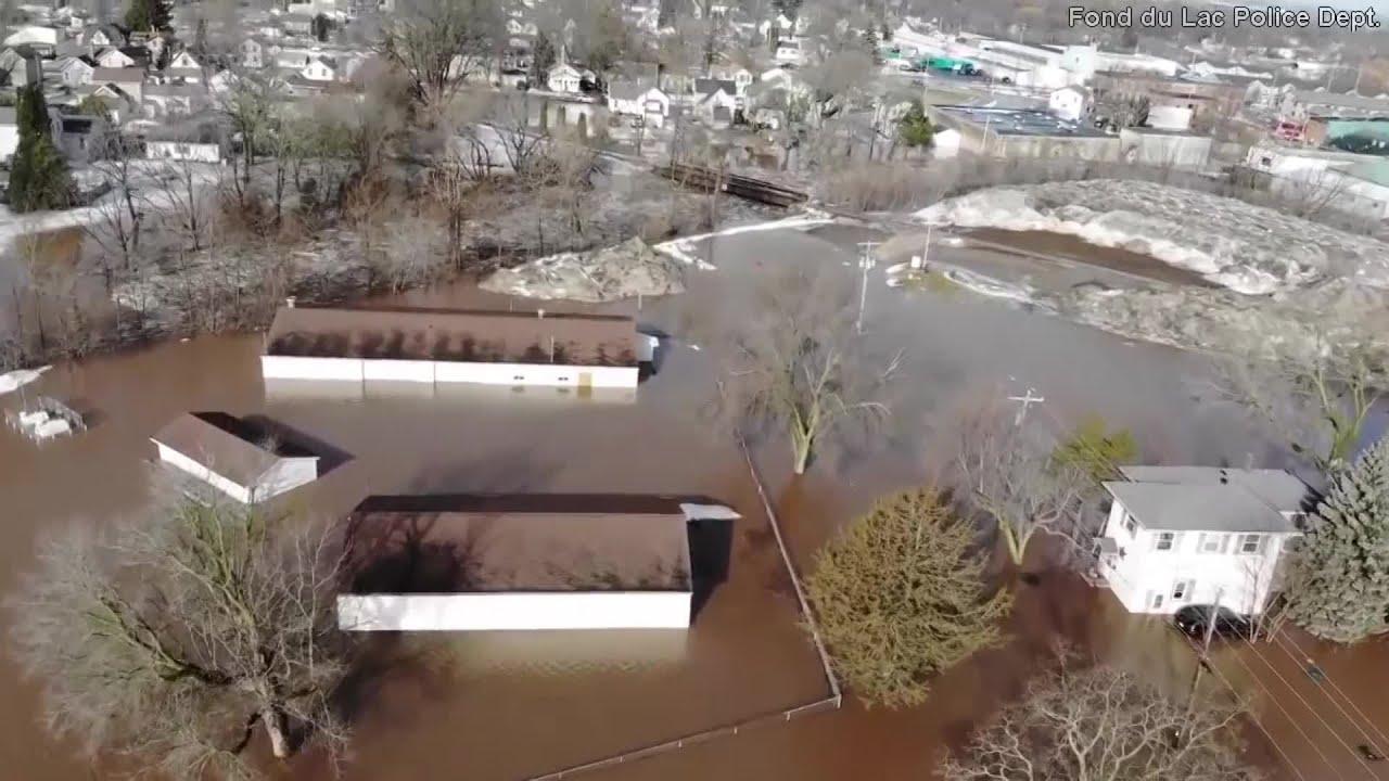 Fond Du Lac Wi >> Video Drone Footage Captures Fond Du Lac Wisconsin Flooding