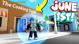 NEW COOKING SIMULATOR GAMEPLAY! *FIRST LOOK* (Roblox)