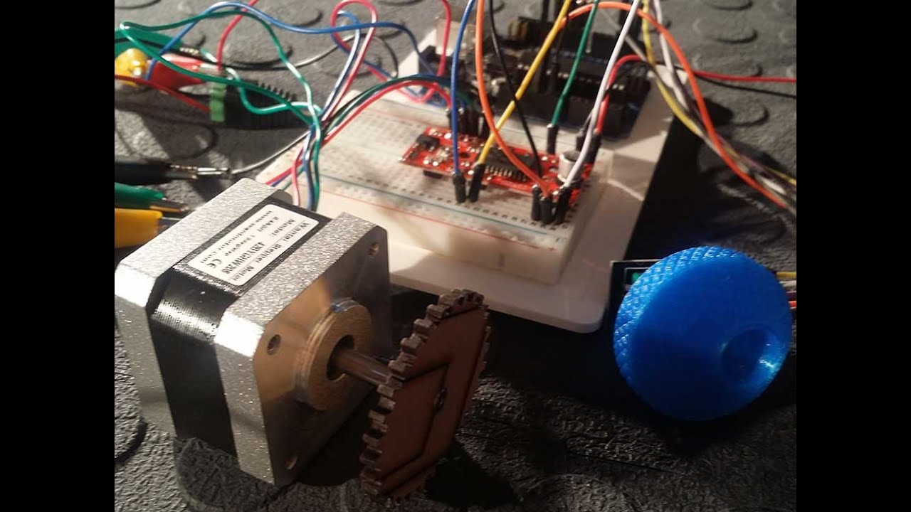 Control A Stepper Motor Using An Arduino Rotary Encoder And Easy Wiring Potentiometer Driver Tutorial Part 2