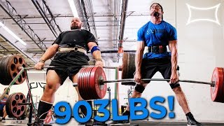 SAVAGE DEADLIFTS WITH BRIAN SHAW AND CAILER WOOLAM AT SUPER TRAINING GYM