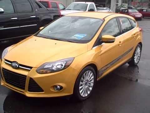 2012 Ford Focus Titanium Yellow 47615