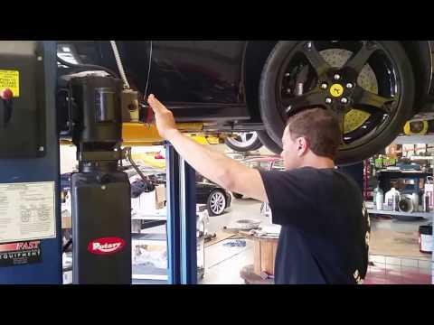 2010 Ferrari California oil change and test ride