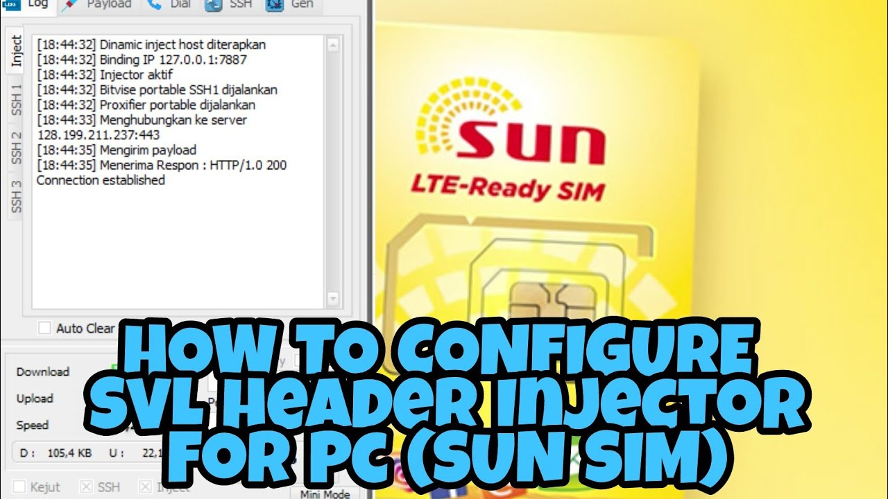HOW TO CONFIGURE SVL HEADER INJECTOR FOR PC (SUN SIM