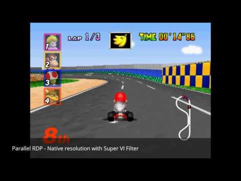 Parallel RDP - N64 - VI Filter vs  Super VI Filter Comparison