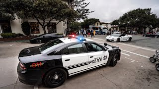CARMEL POLICE OUT NUMBERED BY CRAZY SUPERCARS STUNTING!!