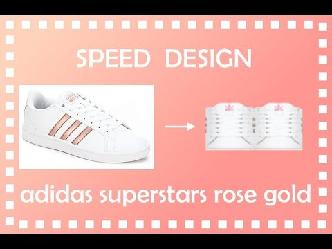 Roblox Speed Design - White Adidas Superstars Rose Gold Sneakers