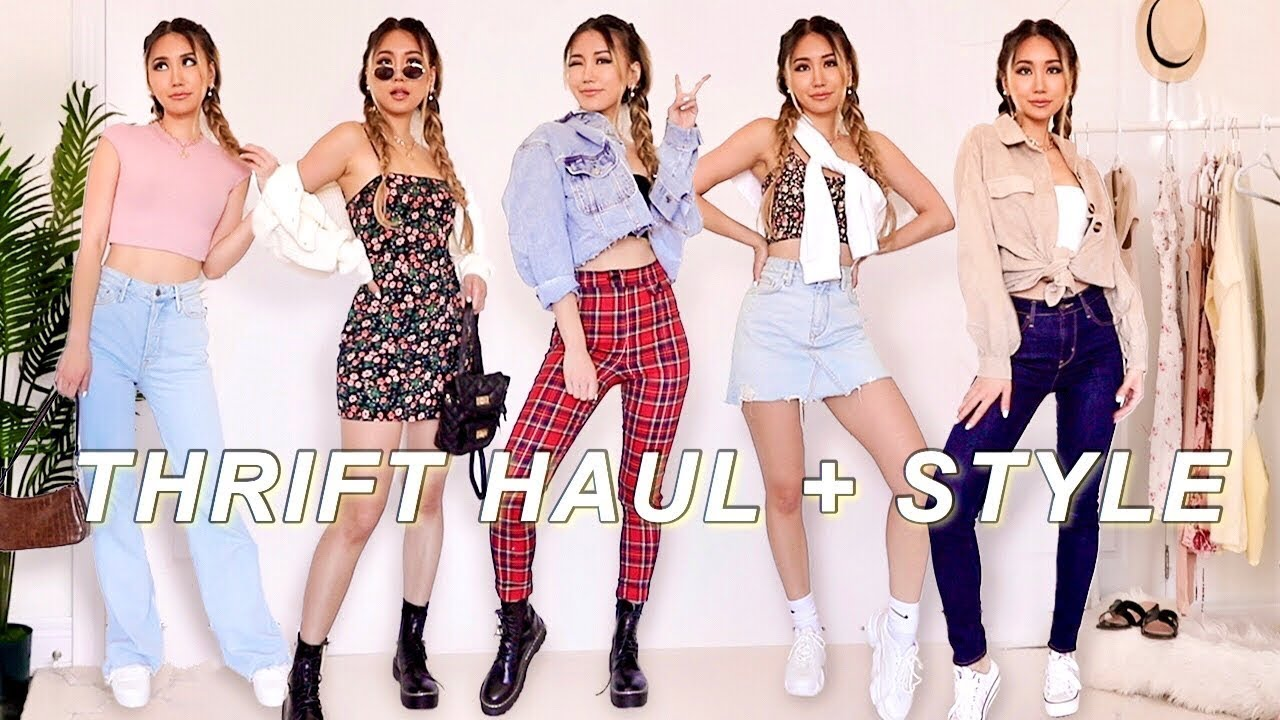 SUMMER THRIFT HAUL TRY ON | How to style thrifted finds