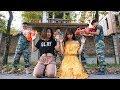 Nerf War: woman Warrior Nerf Guns Mafia Group Rescue Sister Nerf movie