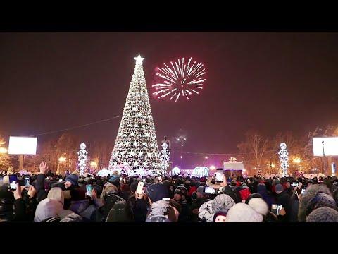 По всей России прошли праздничные новогодние гуляния.