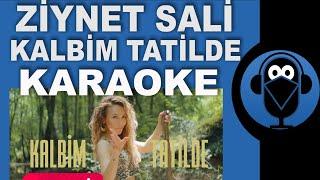 Ziynet Sali  /  Kalbim Tatilde  ( KARAOKE ) / Sözleri Remix Karaoke Resimi