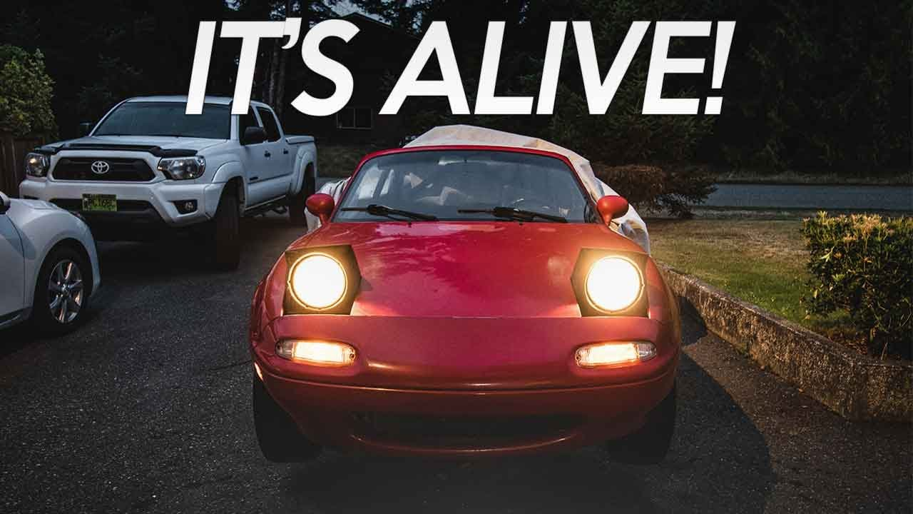 The Project Miata's FIRST STARTUP!
