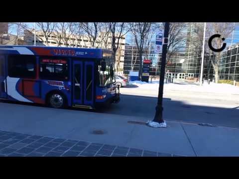 Public transportation schedule test in Worcester, Massachusetts